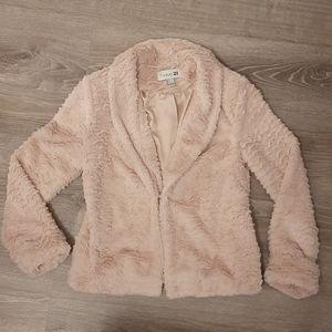 Faux Fur Blush Pink Coat